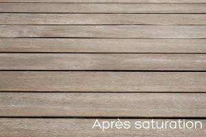 Terrasse en bois après saturateur