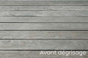 Terrasse en bois avant dégrisage
