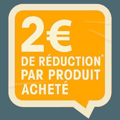 2 euros de réduction