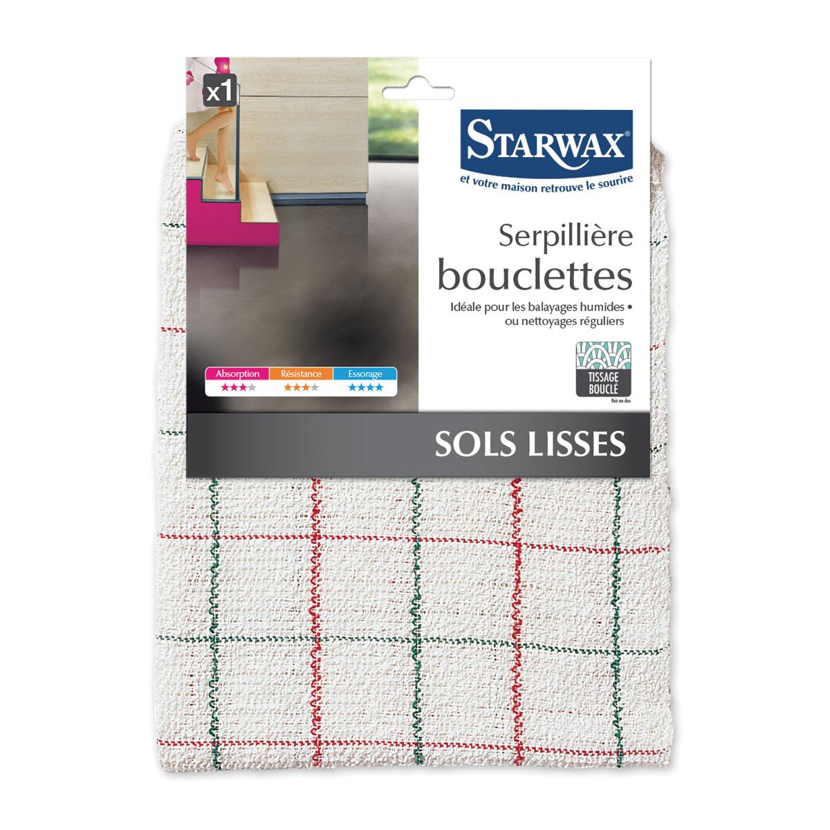 Serpillière bouclettes pour sols intérieurs lisses - Starwax