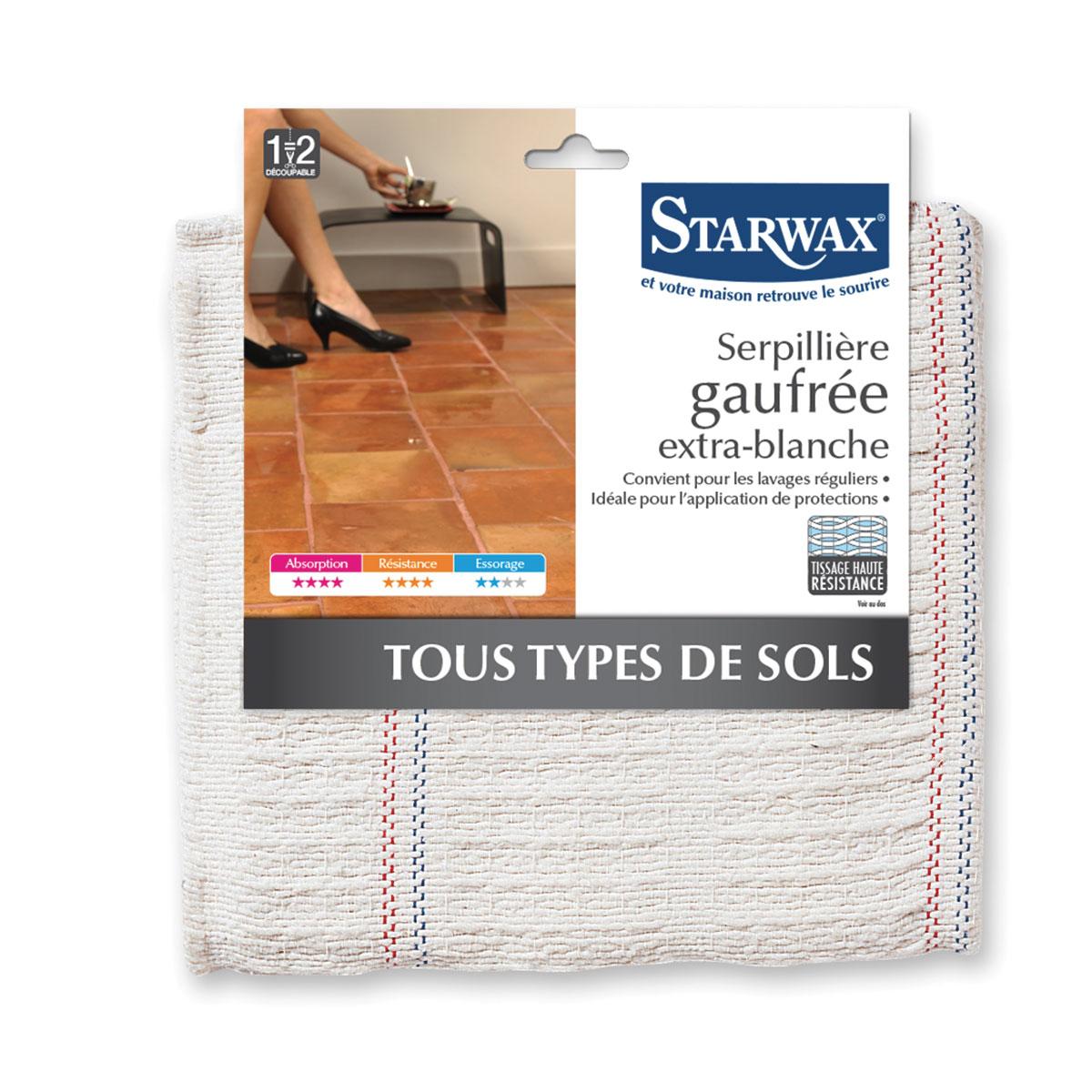 Serpillière gaufrée pour tous types de sols - Starwax