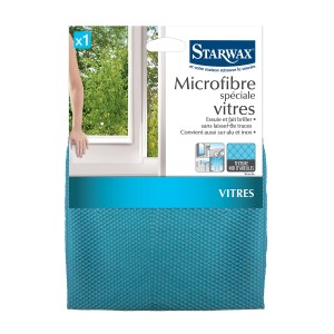 Lavette microfibre pour vitres - Starwax