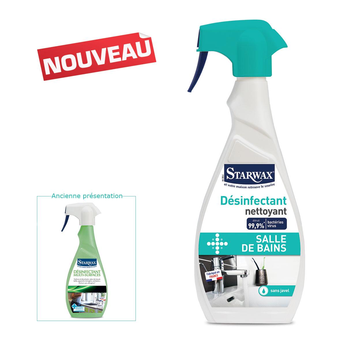 Désinfectant nettoyant salle-bains