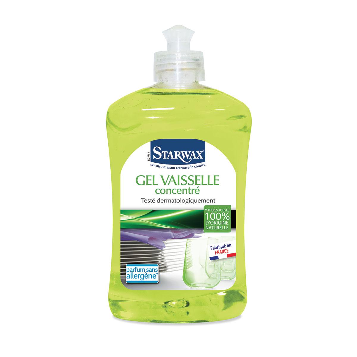 Gel vaisselle avec matières actives 100% d'origine naturelle - Starwax