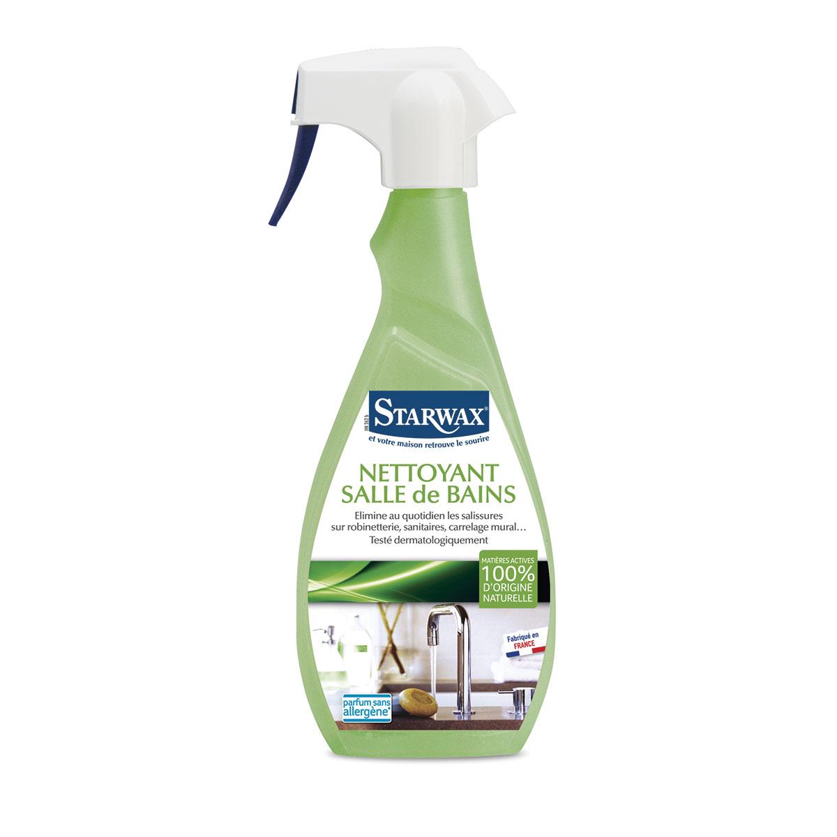 Nettoyant pour salle de bains avec mati res actives 100 d for Produit pour salle de bain