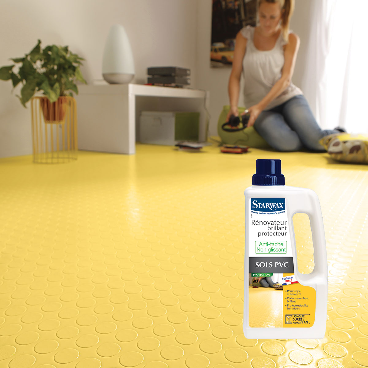 R novateur brillant protecteur pour sols pvc starwax for Produit pour nettoyer les tapis