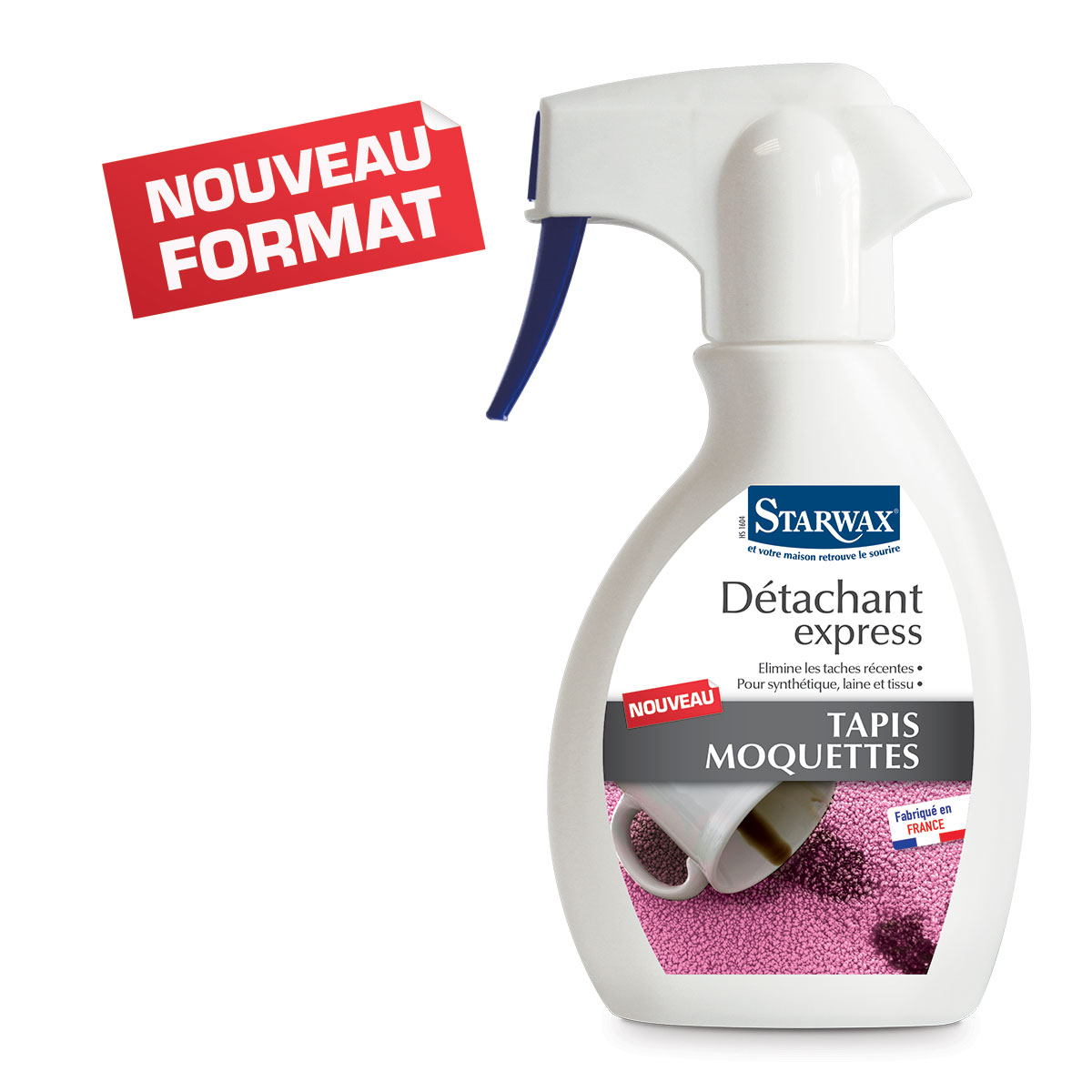 Detachant express tapis moquettes -250ml- Starwax