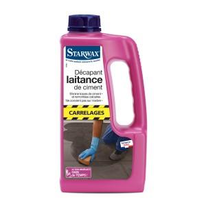 Lessive sols et murs sans rin age pour gros travaux starwax produits d entretien maison - Comment enlever des taches de graisse sur du ciment ...