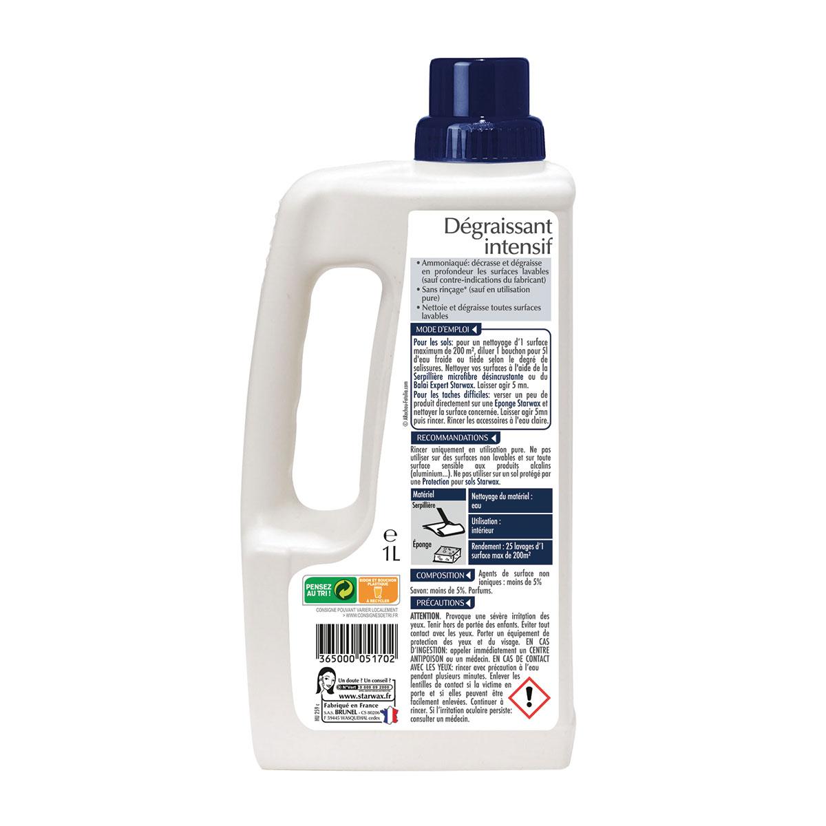 Nettoyant ammoniaqué pour nettoyages difficiles - Starwax
