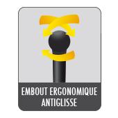 Embout ergonomique et antiglisse du balai expert Starwax