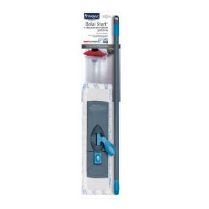 Balai avec housse microfibre grattante pour sol intérieur - Starwax