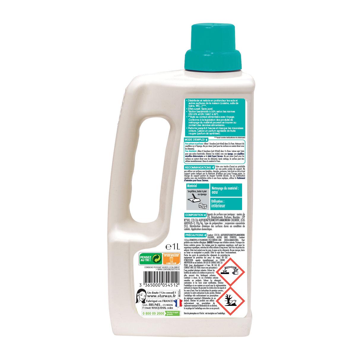Désinfectant nettoyant parfumé