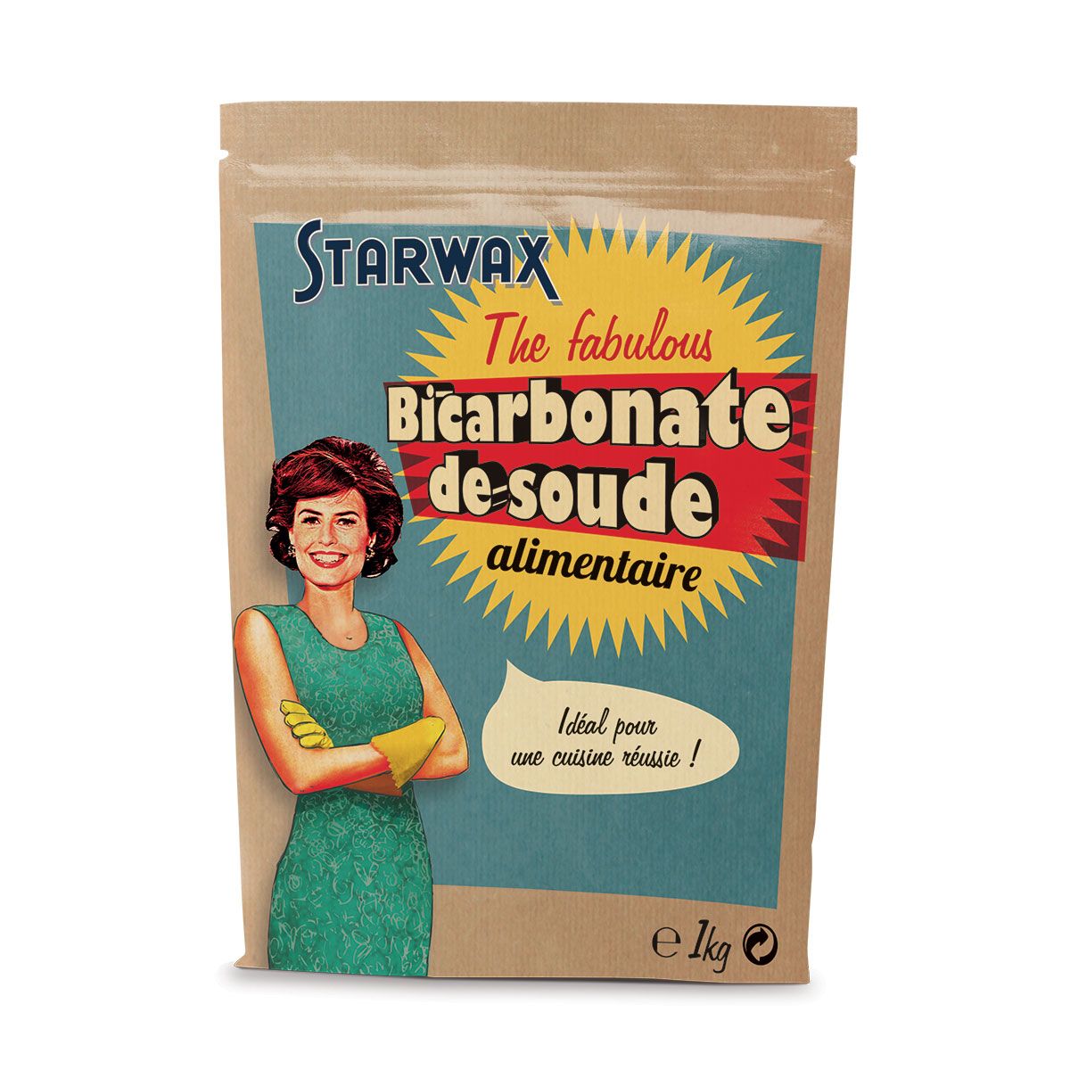 Bicarbonate de soude alimentaire starwax produits d for Detartrage bicarbonate de soude