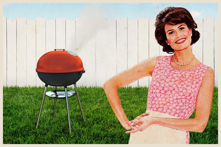Barbecue dans un jardin
