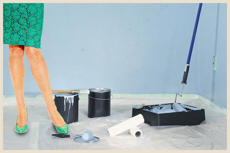 Gros travaux : peinture sur les murs