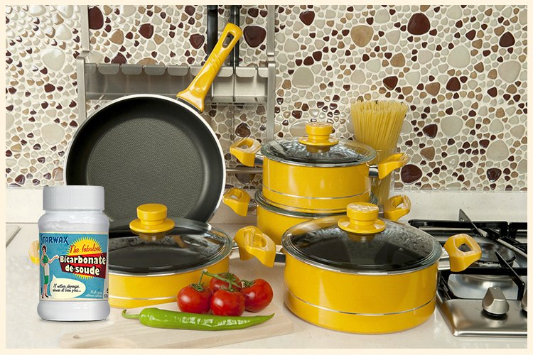 Pour liminer les taches de graisse br l e sur les casseroles starwax - Fond de casserole brule ...