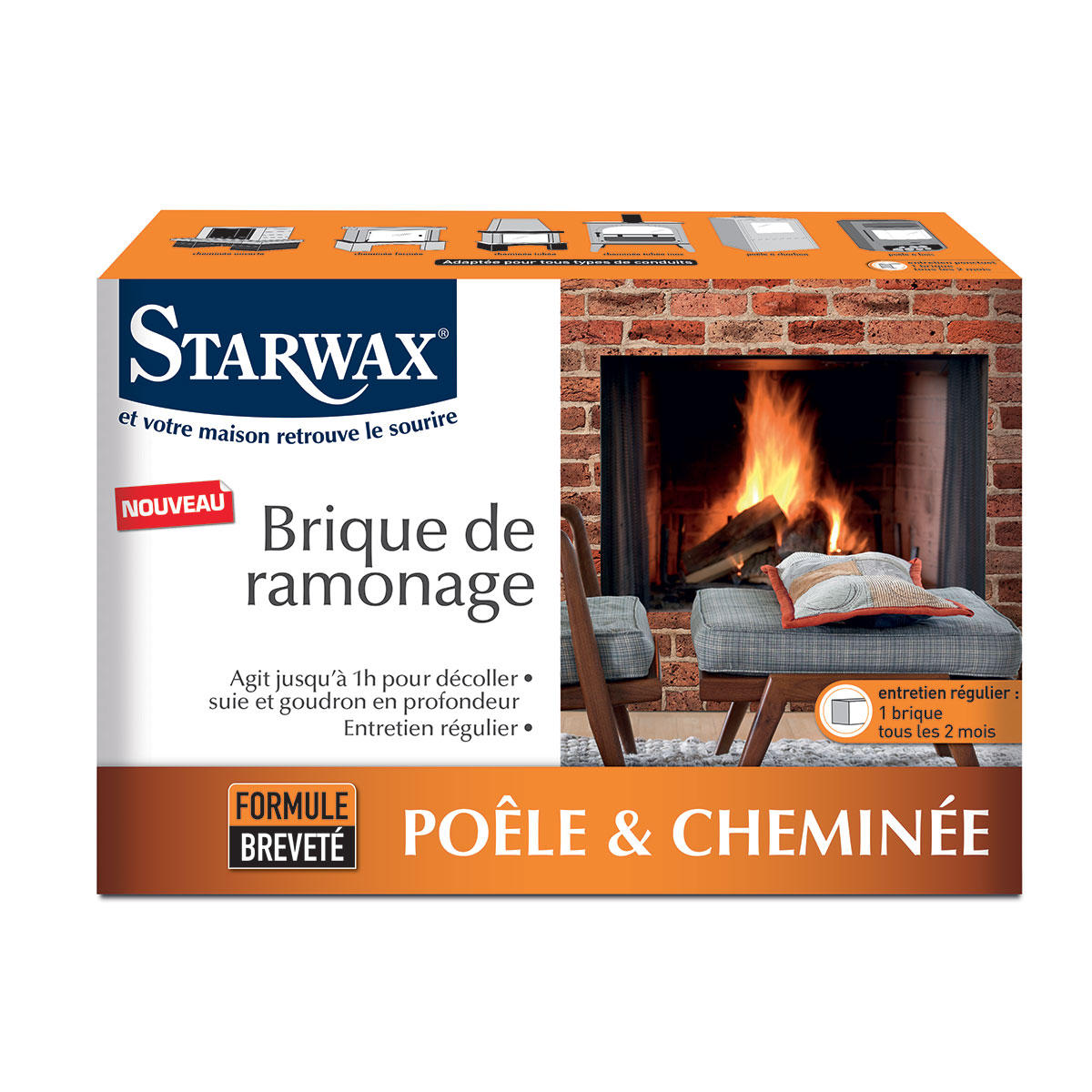 Brique de ramonage - Starwax