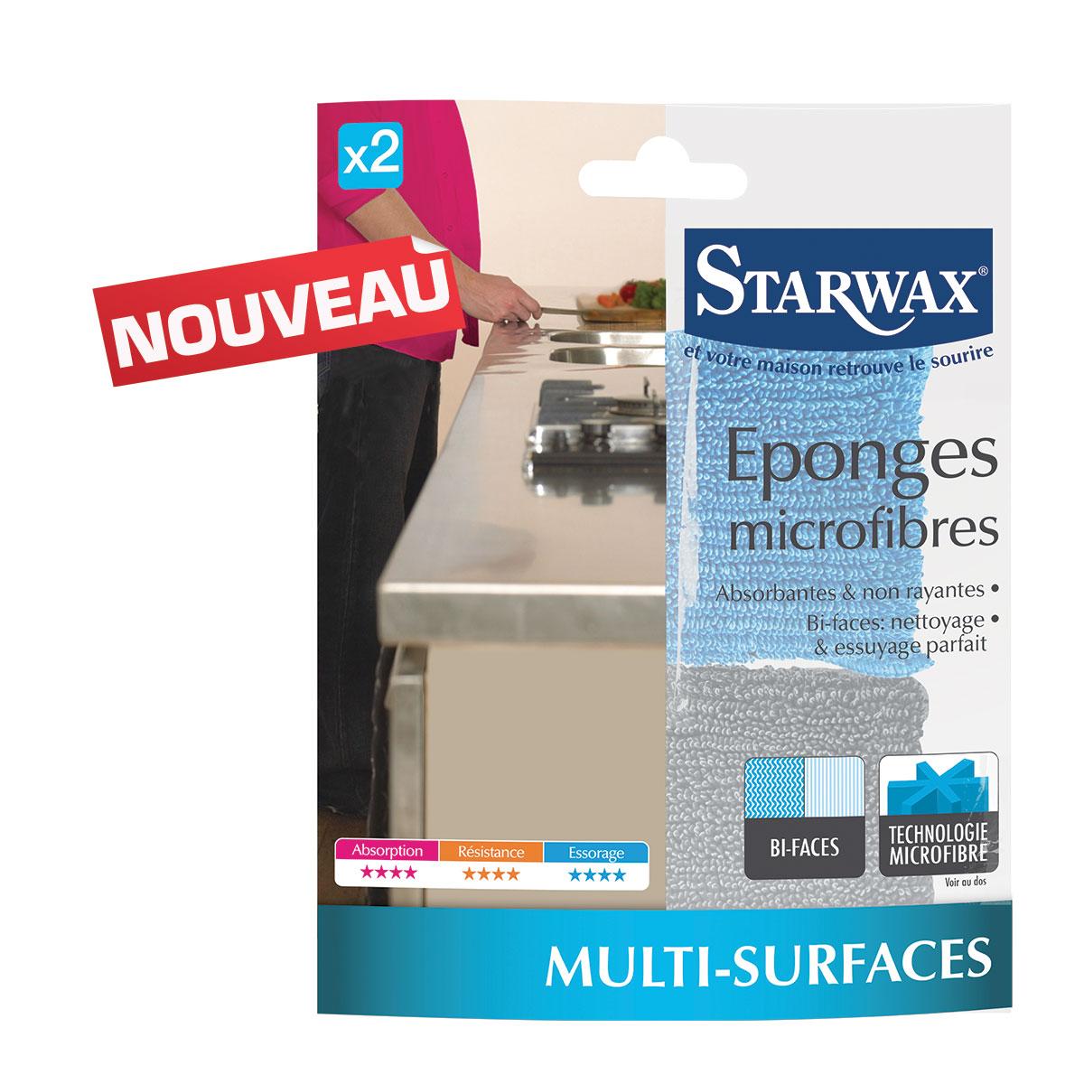 Eponges microfibres Starwax