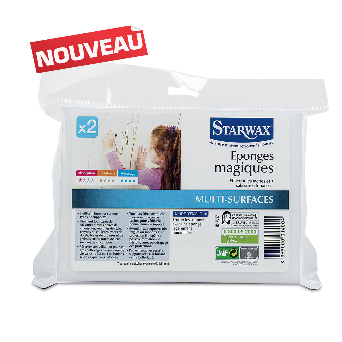 Eponges magiques - Starwax