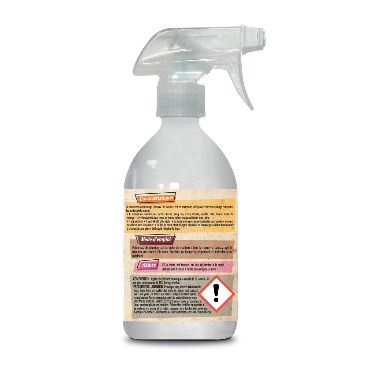 Spray détachant fiel boeuf